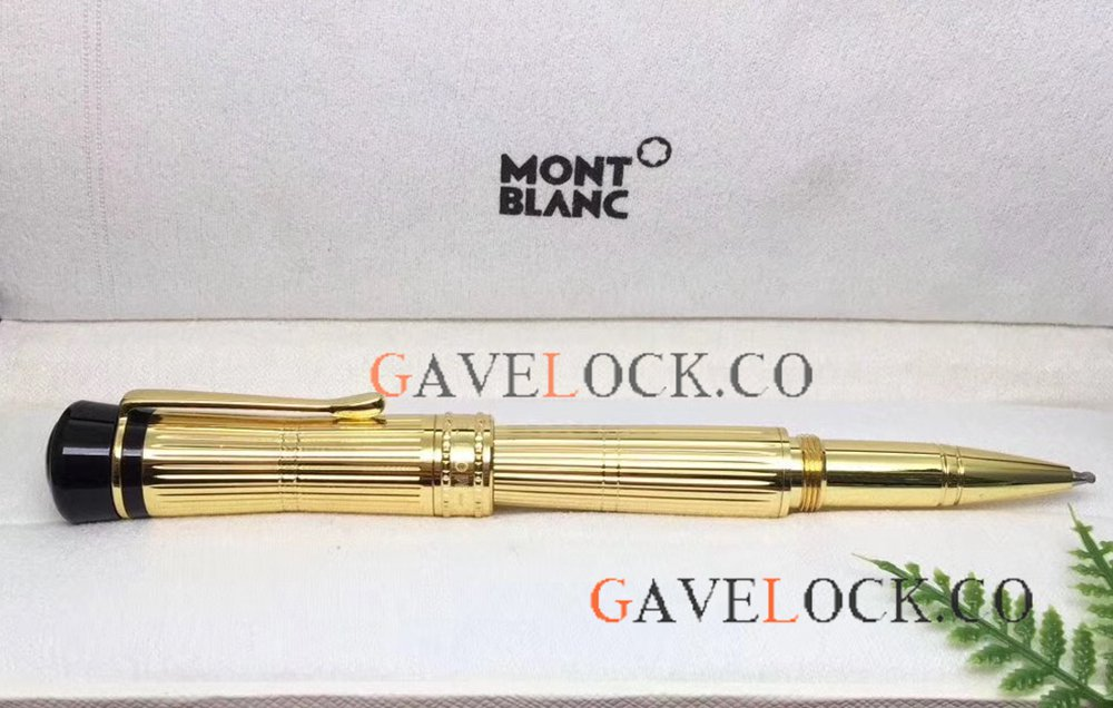 Wholesale AAA Montblanc Bonheur Pen Yellow Gold Rollerball Pen