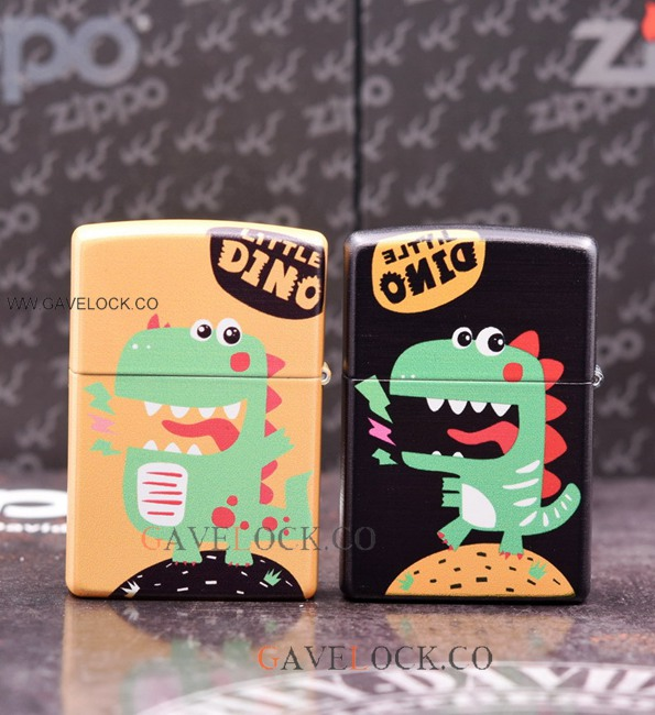 Zippo Dino Windproof Lighter Black Or Orange w Box