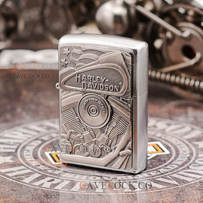 Zippo Harley Davidson Lighter Metal Engraved Comes Box