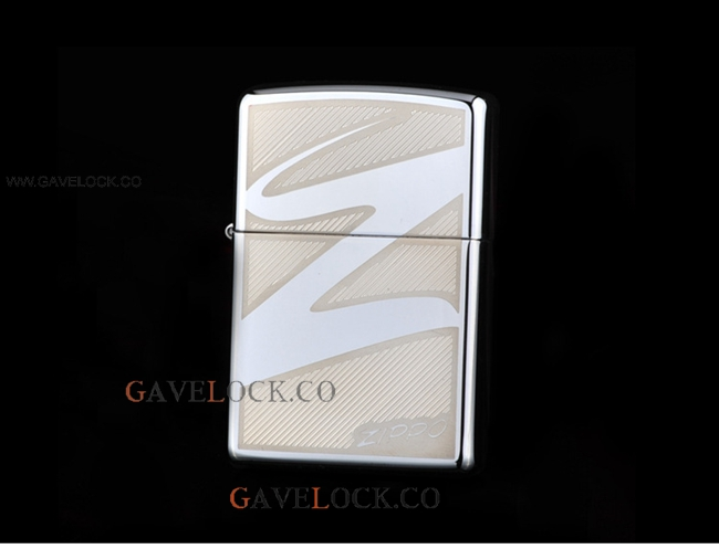 Zippo Logo Windproof Lighter Stainless Steel New In Box