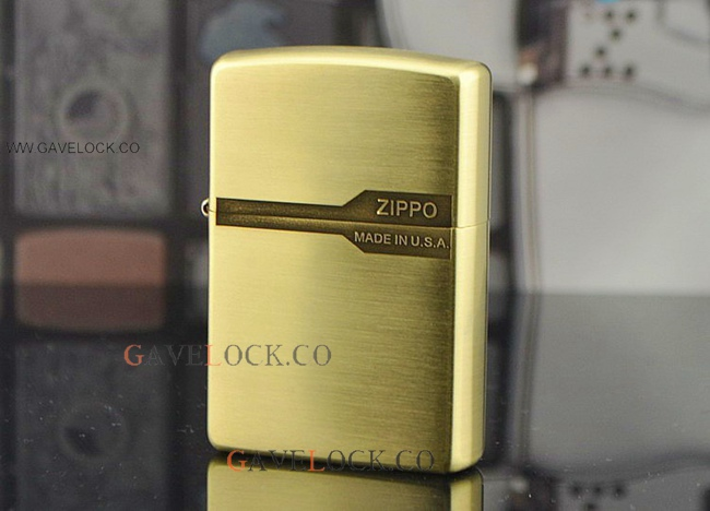 Zippo Windproof Pocket Lighter Gold Tone Made In USA